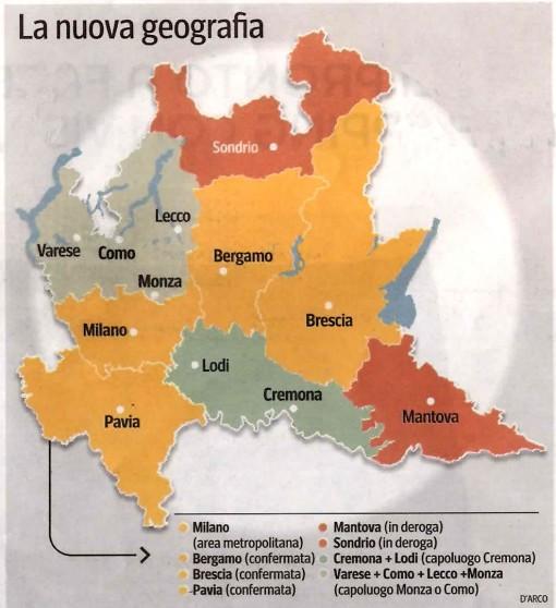 Province Lombardia Cartina.Resegone Online Notizie Da Lecco E Provincia Provincia Di Lecco Tra Alleanze Territoriali E Rischio Spezzatino