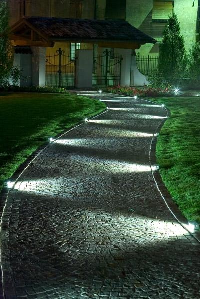 Illuminazione da giardino a terra conex illuminazione - Terra da giardino ...